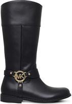 MICHAEL Michael Kors Zia-Emma harness leather boots 6-10 years