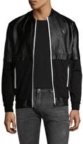 Antony Morato Leather Fleece Bomber Jacket
