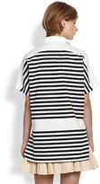 Derek Lam 10 Crosby Short-Sleeve Striped Shirt
