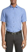 Armani Collezioni Men's Chambray Sport Shirt