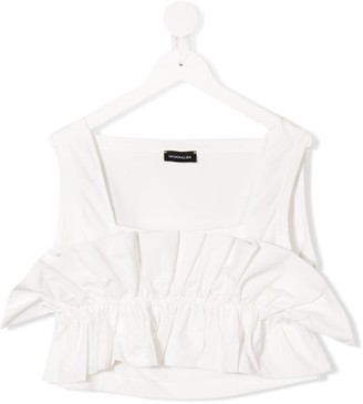 MonnaLisa TEEN cropped ruffled top