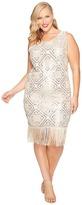 Unique Vintage Plus Size Flapper Dress Women's Dress