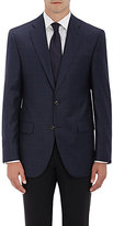 Piattelli MEN'S CONWAY PLAID WOOL SPORTCOAT-NAVY SIZE 40 R
