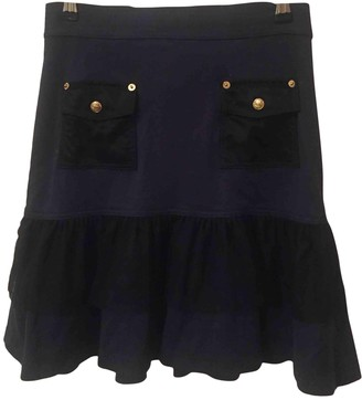 Luella Navy Wool Skirt for Women