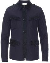 Gucci Suede-trim Gabardine Safari Jacket