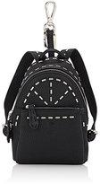 Fendi Men's Selleria Backpack Bag Charm-BLACK