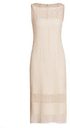 Akris Grid Illusion Sheath Dress