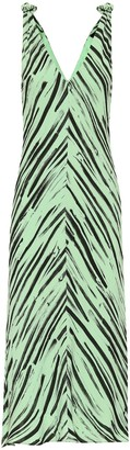 Proenza Schouler Printed crepe de chine dress