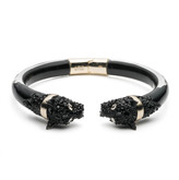 Alexis Bittar Crystal Encrusted Chained Panther Hinge Bracelet