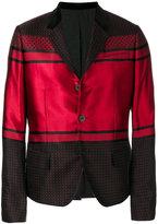 Haider Ackermann bicolour patterned blazer