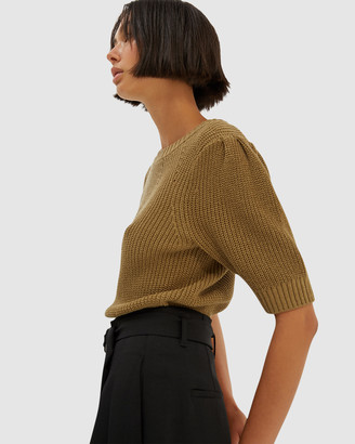 SABA Women's Green Jumpers & Cardigans - Holly Cotton Cord Knit - Size One Size, L at The Iconic