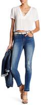 Seven7 Skinny Raw Hem Distressed Jean