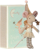 Maileg North America Tooth Fairy Girl w/ Box, Cream/Aqua