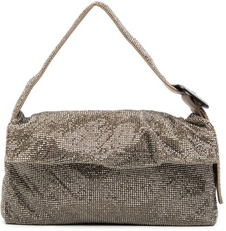 Benedetta Bruzziches Monique Grande Crystal Mesh bag