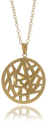 Georgina Jewelry Gold Les Racines Roots Runway Medallion Necklace