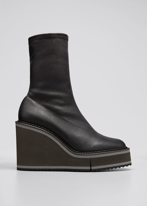 Clergerie Bliss 45mm Leather Stretch Booties