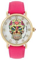 Betsey Johnson Sugar Skull Pink Watch