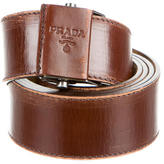 Prada Brown Leather Belt