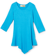Hybrid Turquoise Handkerchief Tunic - Toddler & Girls