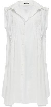 Ann Demeulemeester Shirred-trimmed Cotton-poplin Mini Dress