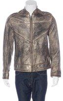 Dolce & Gabbana Metallic Leather Jacket
