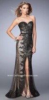 La Femme Amber Sweetheart Sequin Prom Dress