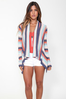Goddis Chantal Draped Cardigan In Bermuda Shell