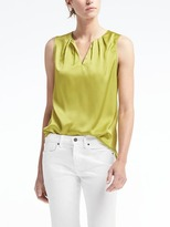 Banana Republic Easy Care Pleated-Neck Tank