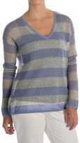 Tommy Bahama Allerton Striped Pullover Sweater - Linen-Cotton (For Women)