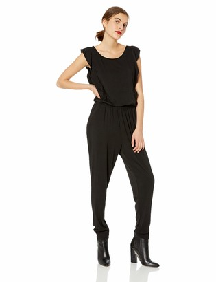 Cupcakes And Cashmere Women's Carlina Knit Jumpsuit w/Tapered Leg and Ruffle Details
