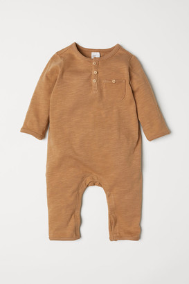 H&M Slub jersey all-in-one suit