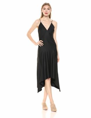 Keepsake Women's Curious Sleeveless Plunging Midi Slip Dress