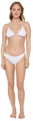 Polo Ralph Lauren Flag Suit Ricky Triangle Bralette (White) Women's Swimwear