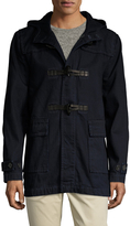 7 For All Mankind Men's Canvas Toggle Hooded Field Jacket