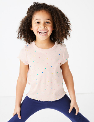 Marks and Spencer Spot Print T-Shirt (2-7 Years)