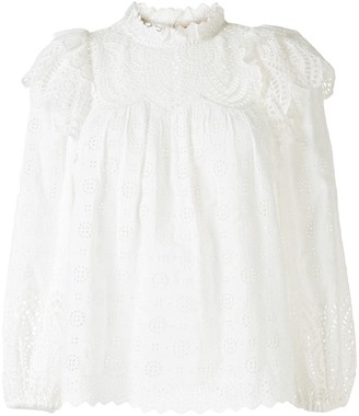 Ulla Johnson Holland embroidered blouse