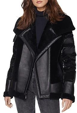 Dawn Levy Mel Mixed Media Puffer Jacket