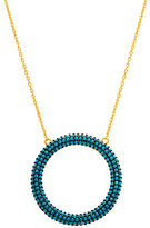 Lord & Taylor Open Circle Pendant Necklace