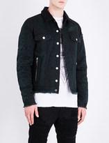 Balmain Python-print denim jacket