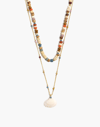 Madewell x Warm Beaded Shell Layered Necklace