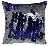 Mermaid Sequin Throw Pillow in Blue/Silver