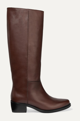 Legres LEGRES - 06 Leather Knee Boots - Brown