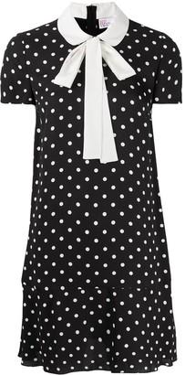 RED Valentino Polka-Dot Short-Sleeve Dress