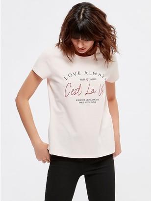 M&Co Cest La Vie slogan print t-shirt
