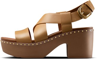 FitFlop Pilar Leather Back-Strap Platforms