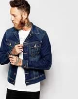 Lee Denim Jacket Rider Slim Fit Stretch Favourite Worn Mid Wash