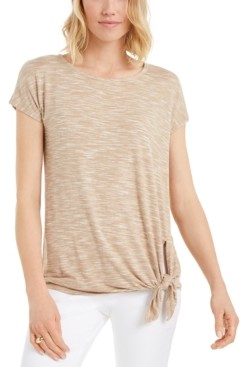 JM Collection Petite Side-Tie Top, Created for Macy's