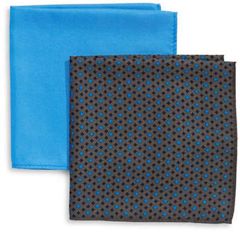 Tommy Hilfiger Two-Piece Mixed Pocket Square Set