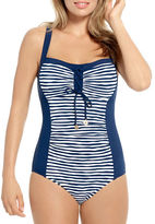 Christina Lace-Up Striped Tank D-Cup Swimsuit