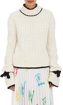 J.W.Anderson Women's Tie-Cuff Sweater-WHITE